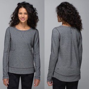 Lululemon Exhalation Pullover Sweatshirt Gray 4